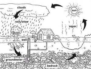 Water Cycle Coloring Sheet   Water Cycle