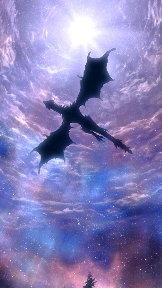 This Should Be A Phone Case Skyrim Skyrim Dragon Skyrim Wallpaper Iphone Background Images