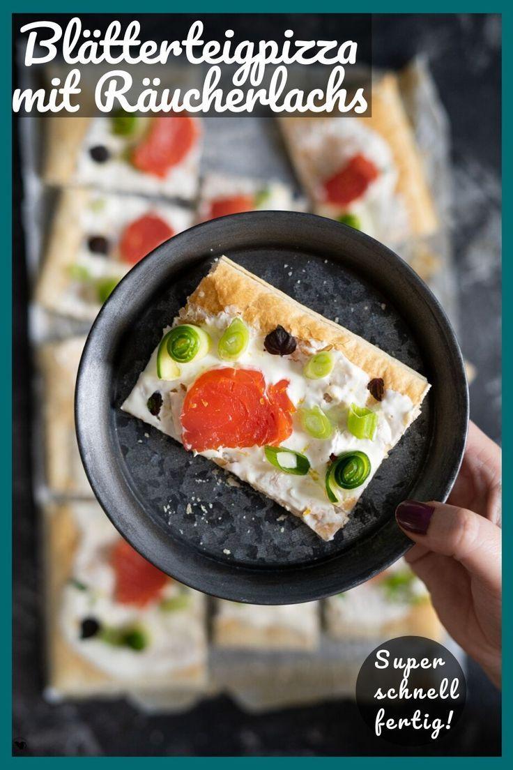 Schnelle Blätterteigpizza Rezept für eine schnelle Blätterteigpizza