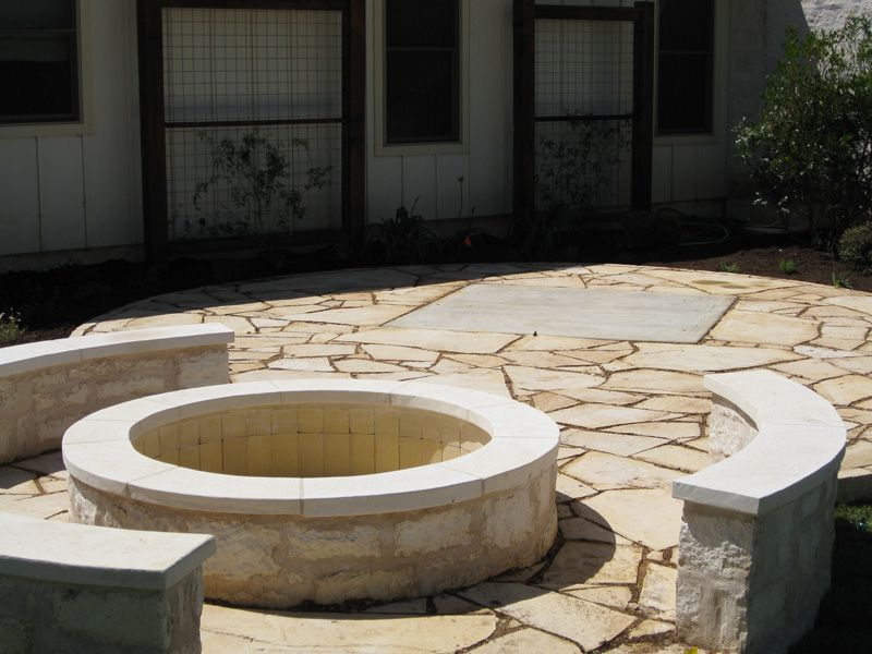 Austin Outdoor Fire Pits Outdoor Limestone Fire Pit Fire Pit