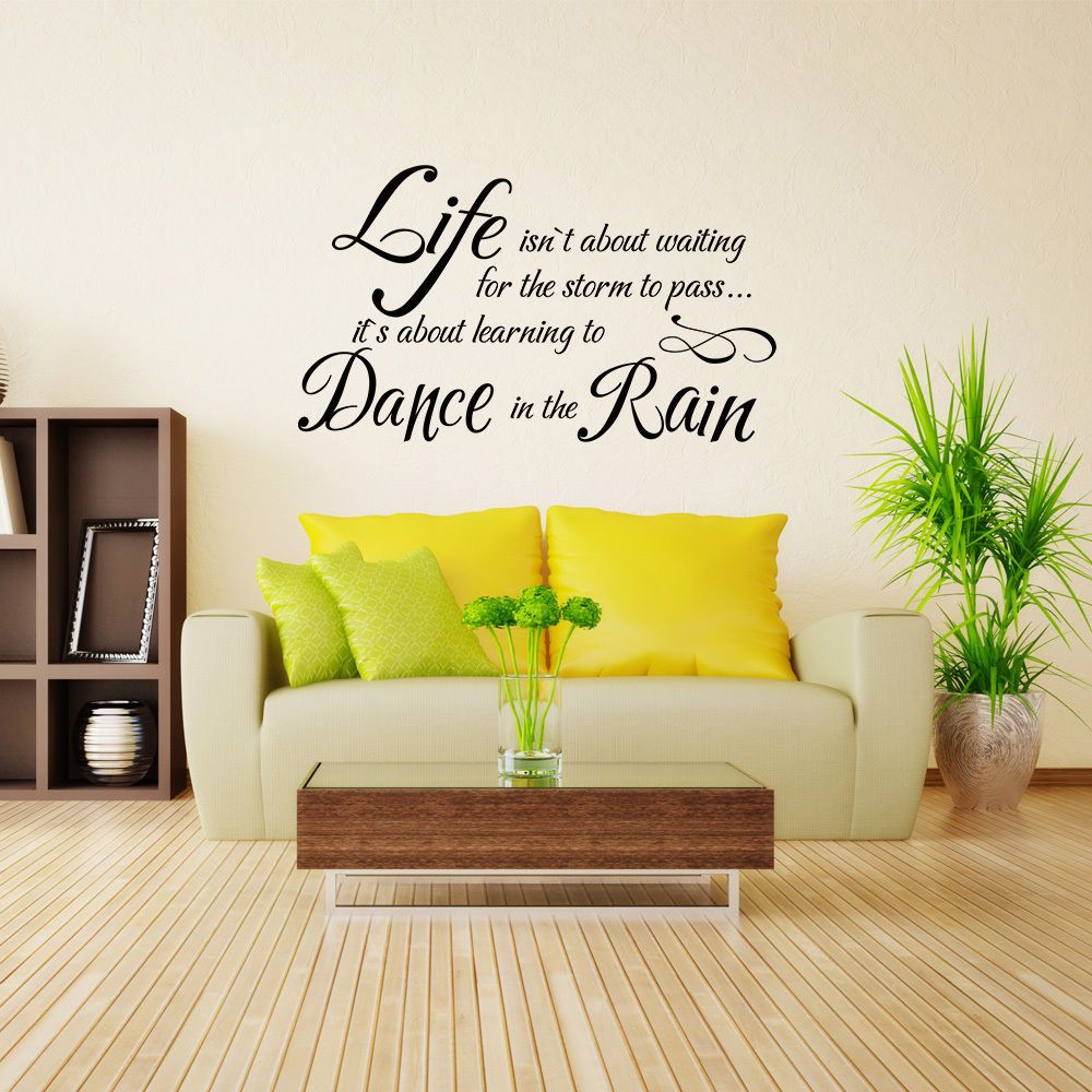 Inspiration Wall Sticker Life Isn\'t About Waiting Word Removable Art ...