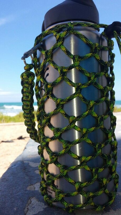 Hydro flask holder made with 550 paracord for a 32 ouncer ...
