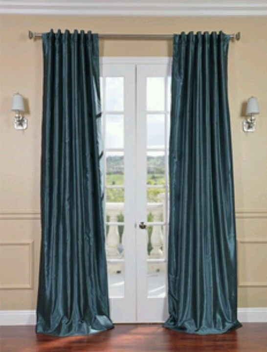 Ombre Ruffle Shower Curtain Teal Green Curtain Panels