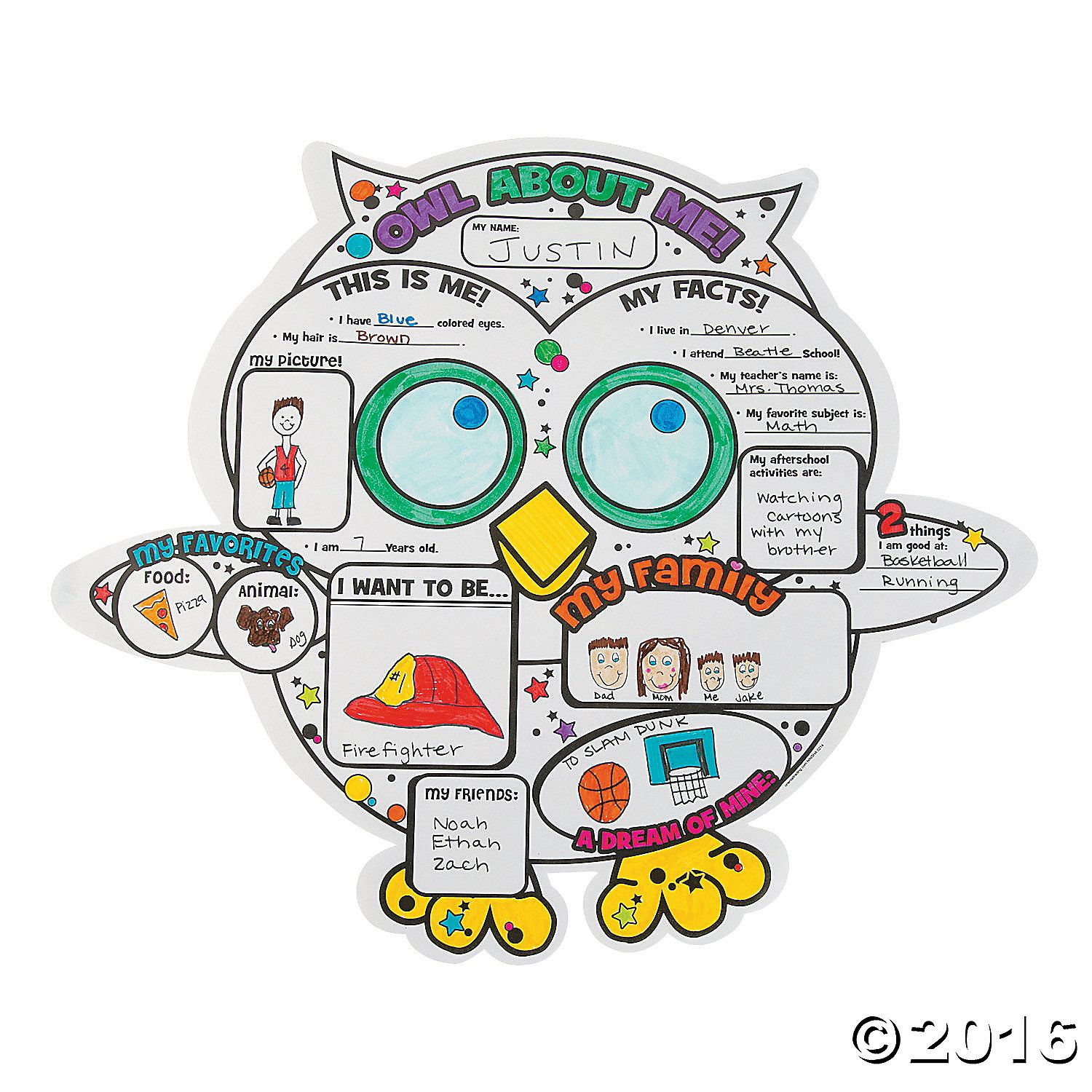 color your own u201cowl about me u201d posters owl and