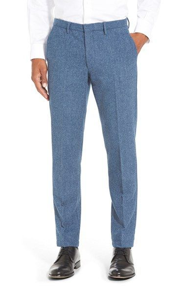 BOSS 'Kaito' Slim Fit Melange Wool Blend Trousers