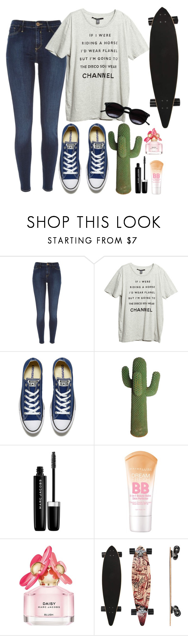 """Sin título #488"" by mary-nava ❤ liked on Polyvore featuring River Island, Converse, Marc Jacobs, Maybelline and Chicnova Fashion"
