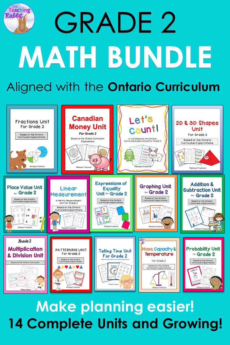 Grade 2 Math Units FULL YEAR BUNDLE (Based on the Ontario Curriculum ...