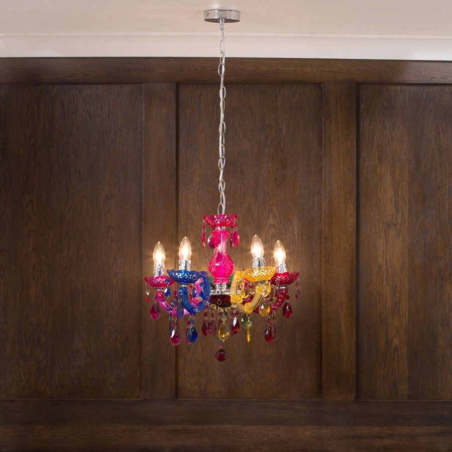 Marie therese chandelier 5 light dual mount multicoloured multicoloured chandelier arubaitofo Gallery