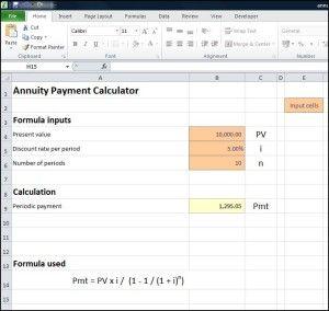 Annuity Payment Calculator  Tvmschools  Calculators