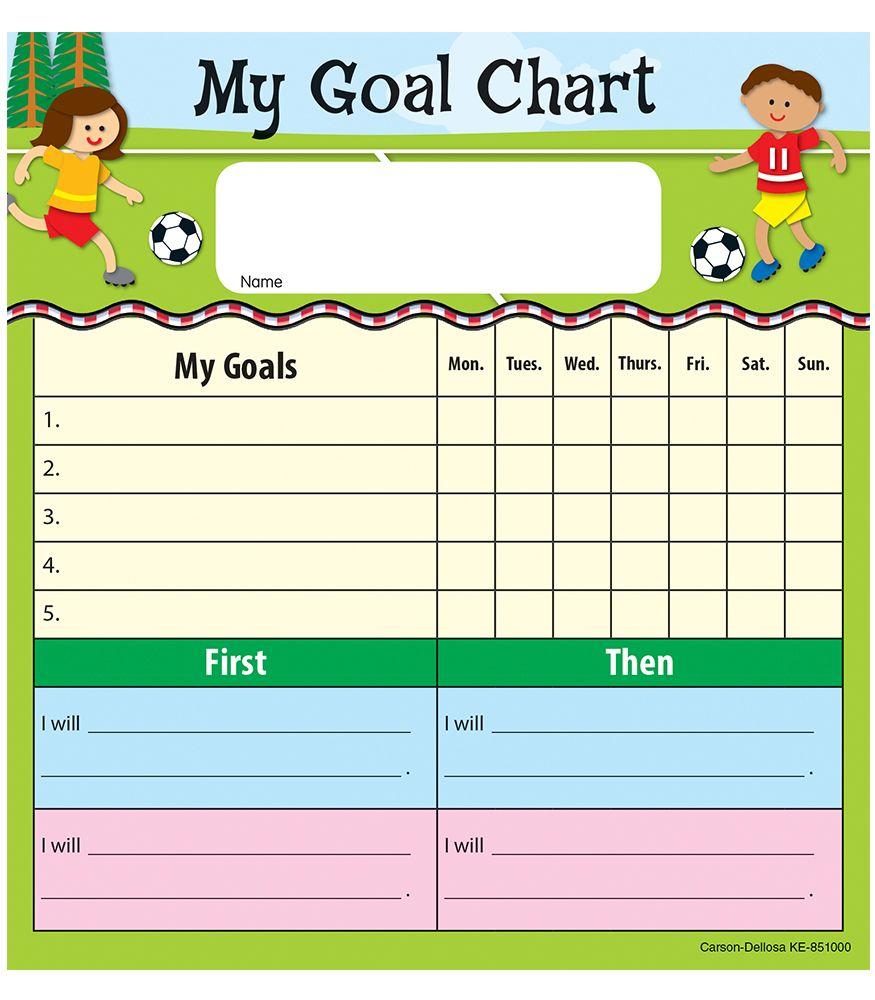 My Goal Chart Notepad   classroom management   Pinterest ...