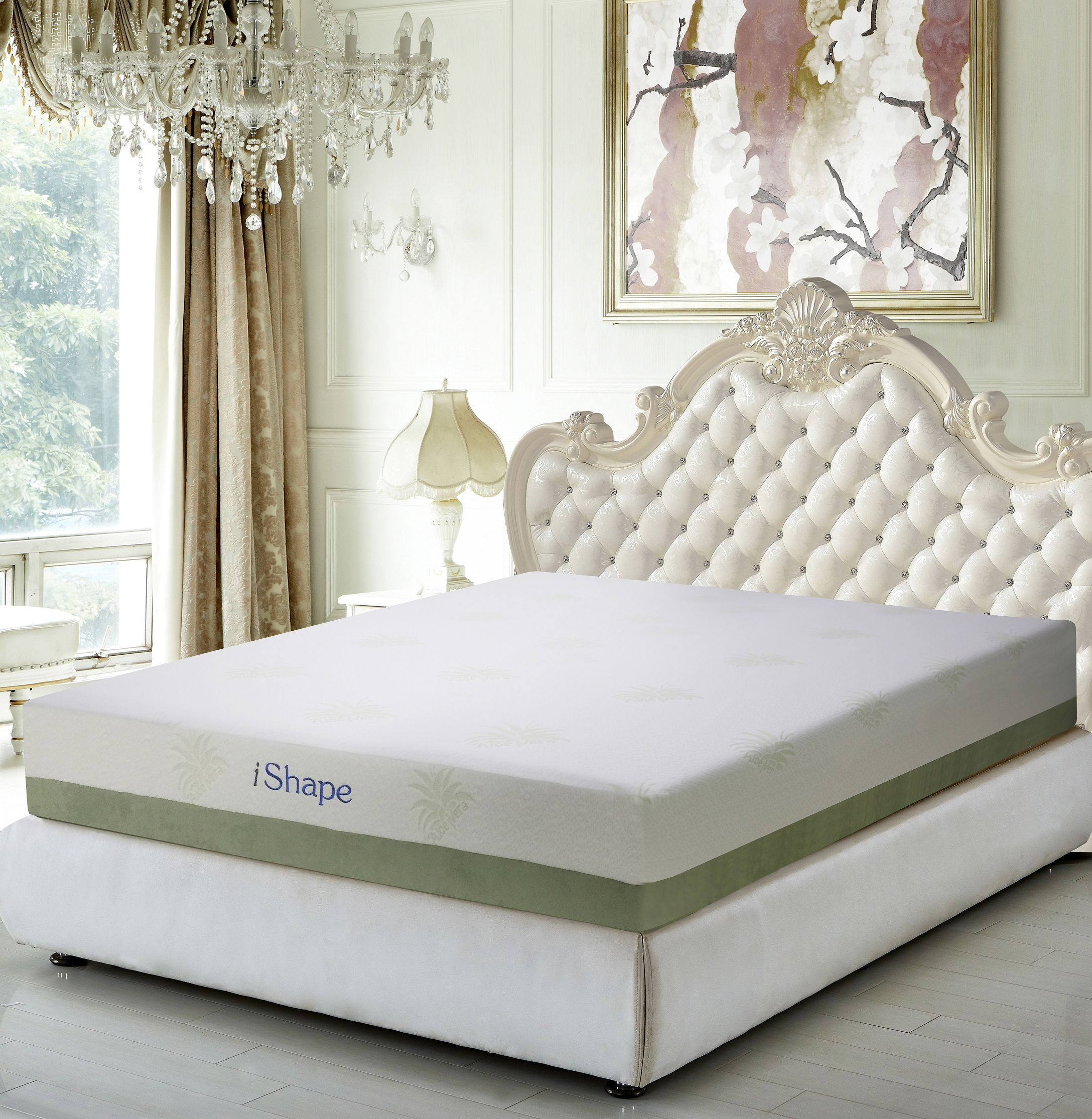 meridian furniture aloe vera 10 inch cool gel memory foam mattress