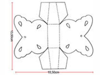 Preciosa cajita con forma de mariposa tutorial con - Plantillas de mariposas ...