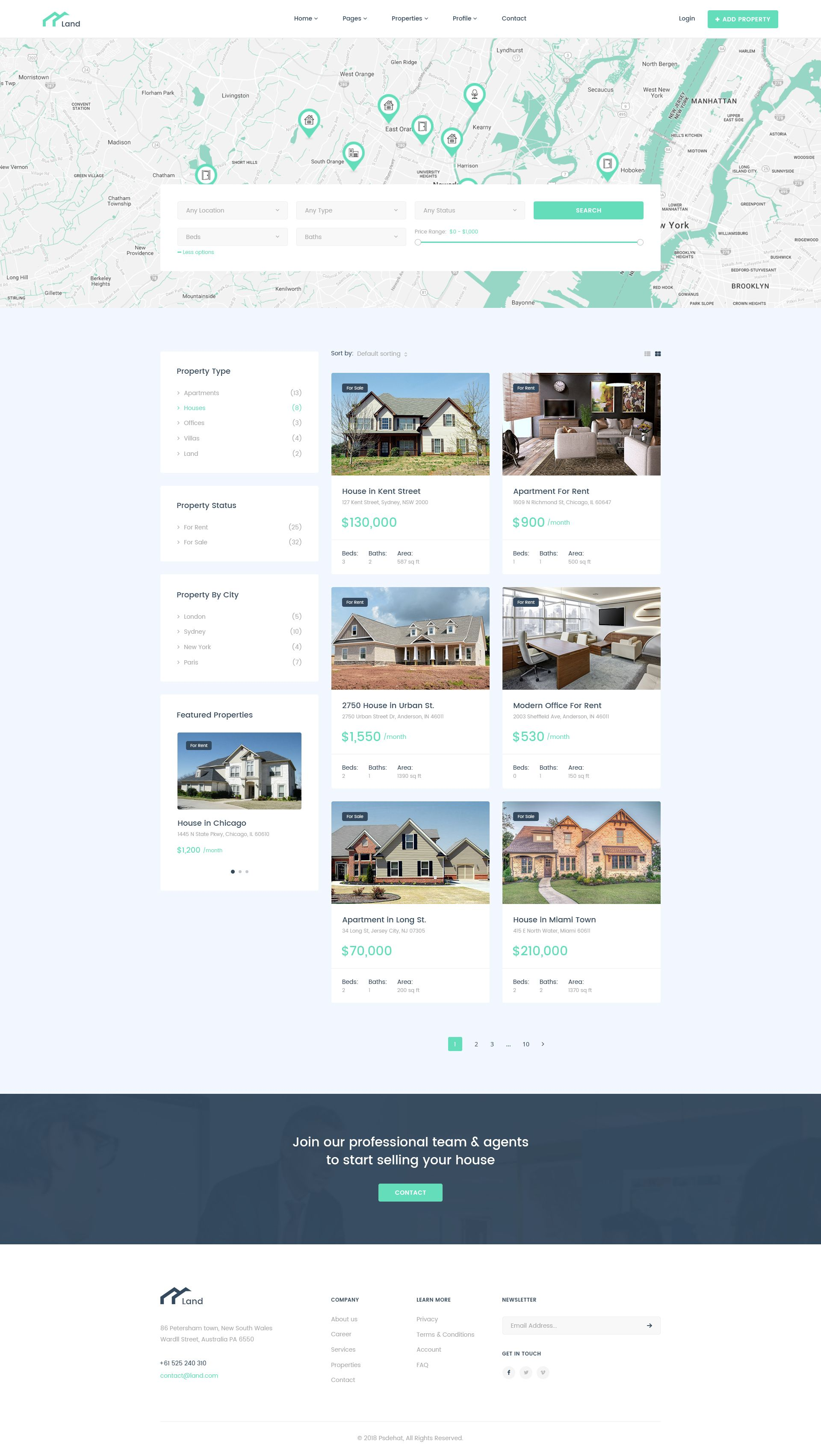 Land Real Estate Property Listing Psd Template How To Buy