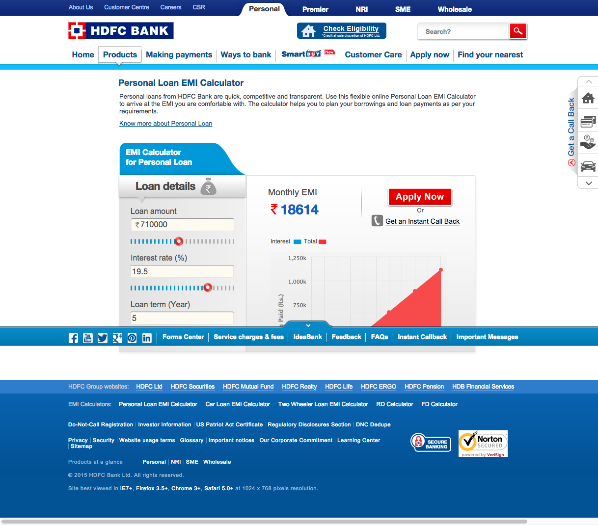 Http Www Hdfcbank Com Personal Personal Loan Emi Calculator Personal Loans How To Apply Finding Yourself