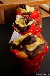 fressraupe: Schoko-Käsekuchen-Muffins – #fressraupe #SchokoKäsekuchenMuffins -…