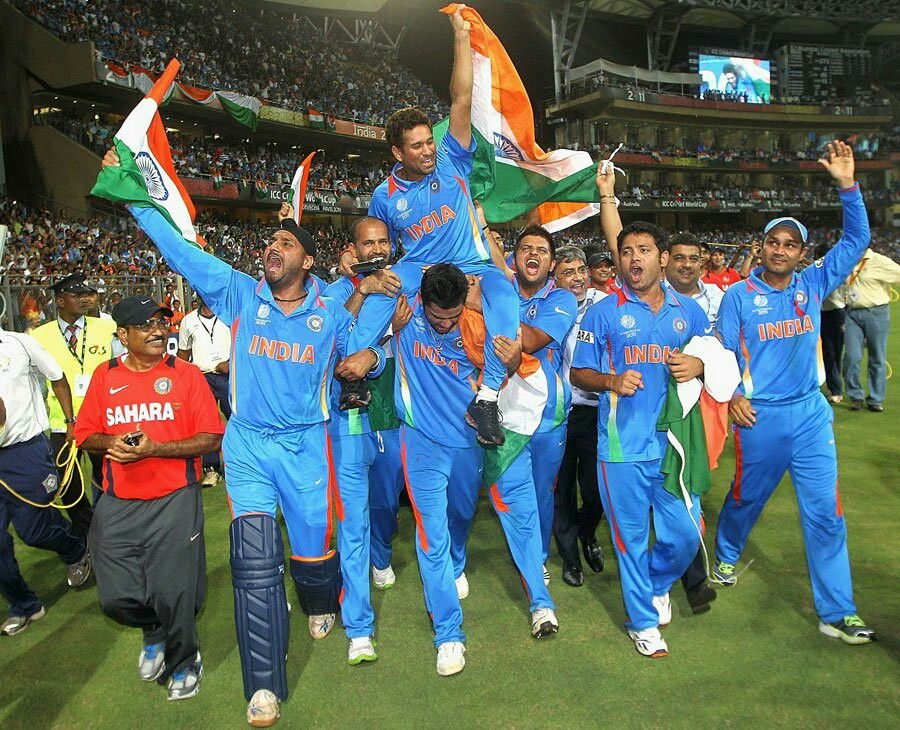Indian Cricket Team After Winning 2011 Wc Cricket World Cup 2011 Cricket World Cup World Cup