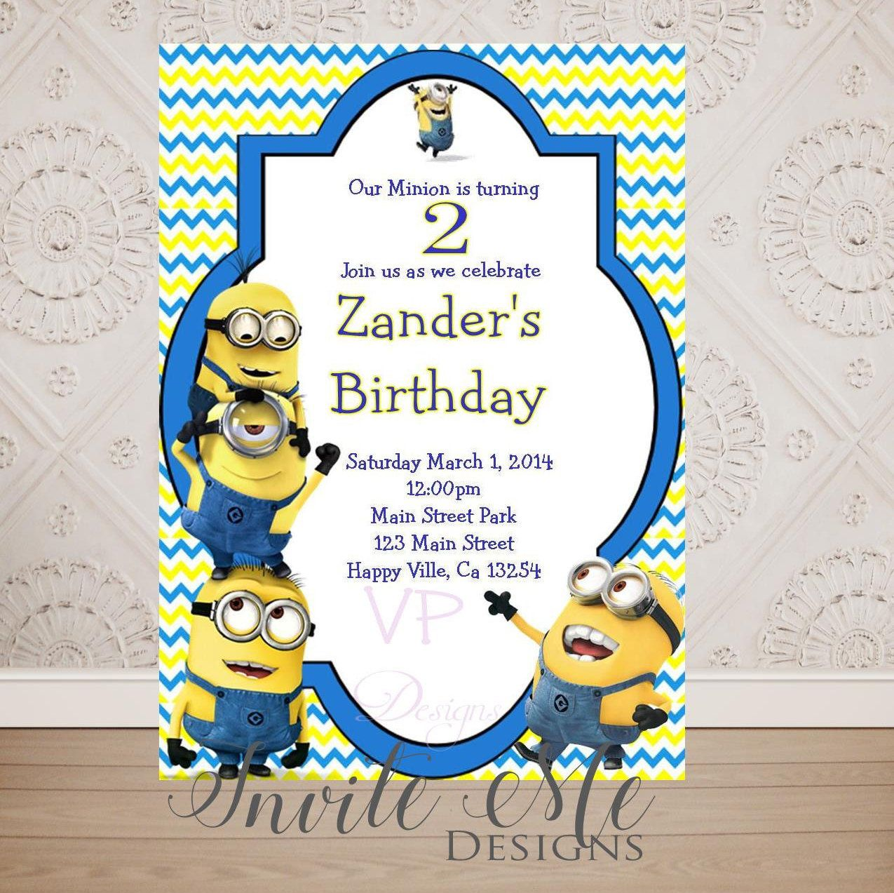 Despicable Me Minion Birthday Invitation, Minion Party Invitation ...