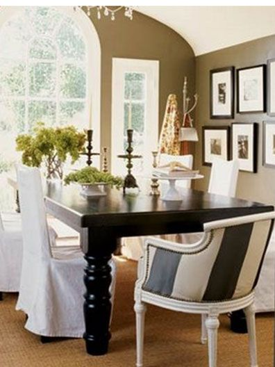 Long Wht Slipcovered Side Chairs Use
