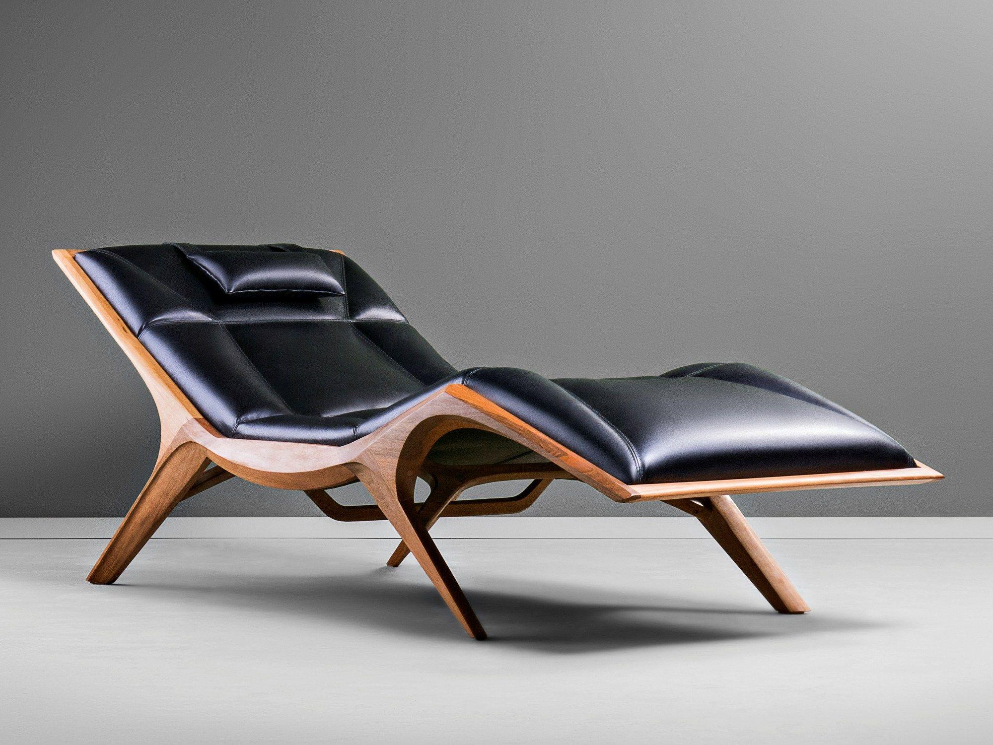 Upholstered Leather Chaise Longue Insekt By Hookl Und Stool Design Aleksandar Ugresic Leather Chaise Leather Lounge Chair Lounge Chair Design