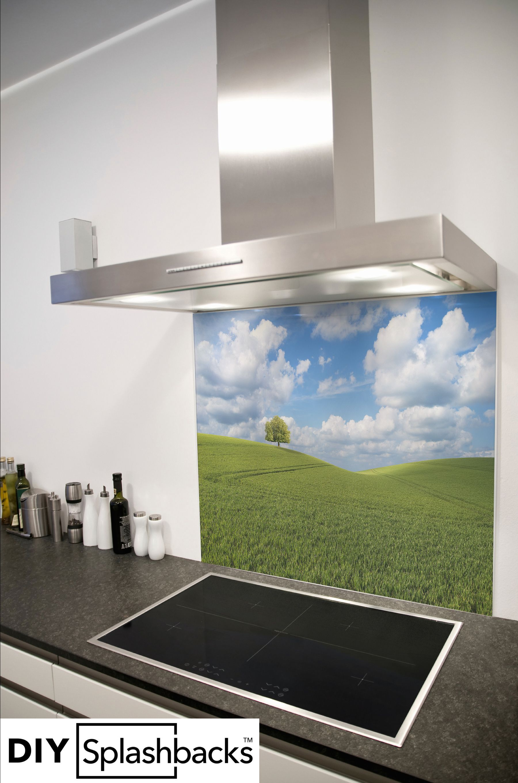 Toughened Heat Resistant Printed Kitchen Glass Splashback Herbs Design