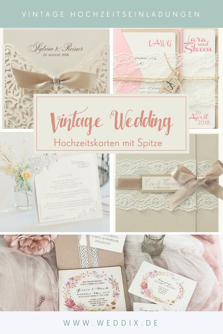 Vintage Wedding Hubsche Hochzeitseinladungen Mit Feiner Spitze