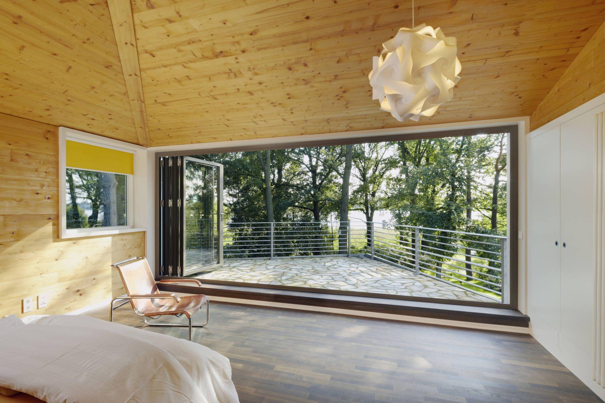 Moderne fenster  Moderne Fenster & Tür Bilder: Glas-Faltwand – Schlafzimmer im ...