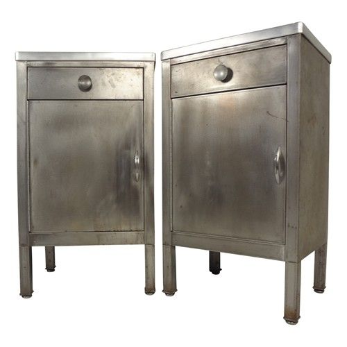 Pair Of Simmons Industrial Metal Utility Cabinets   $1800.