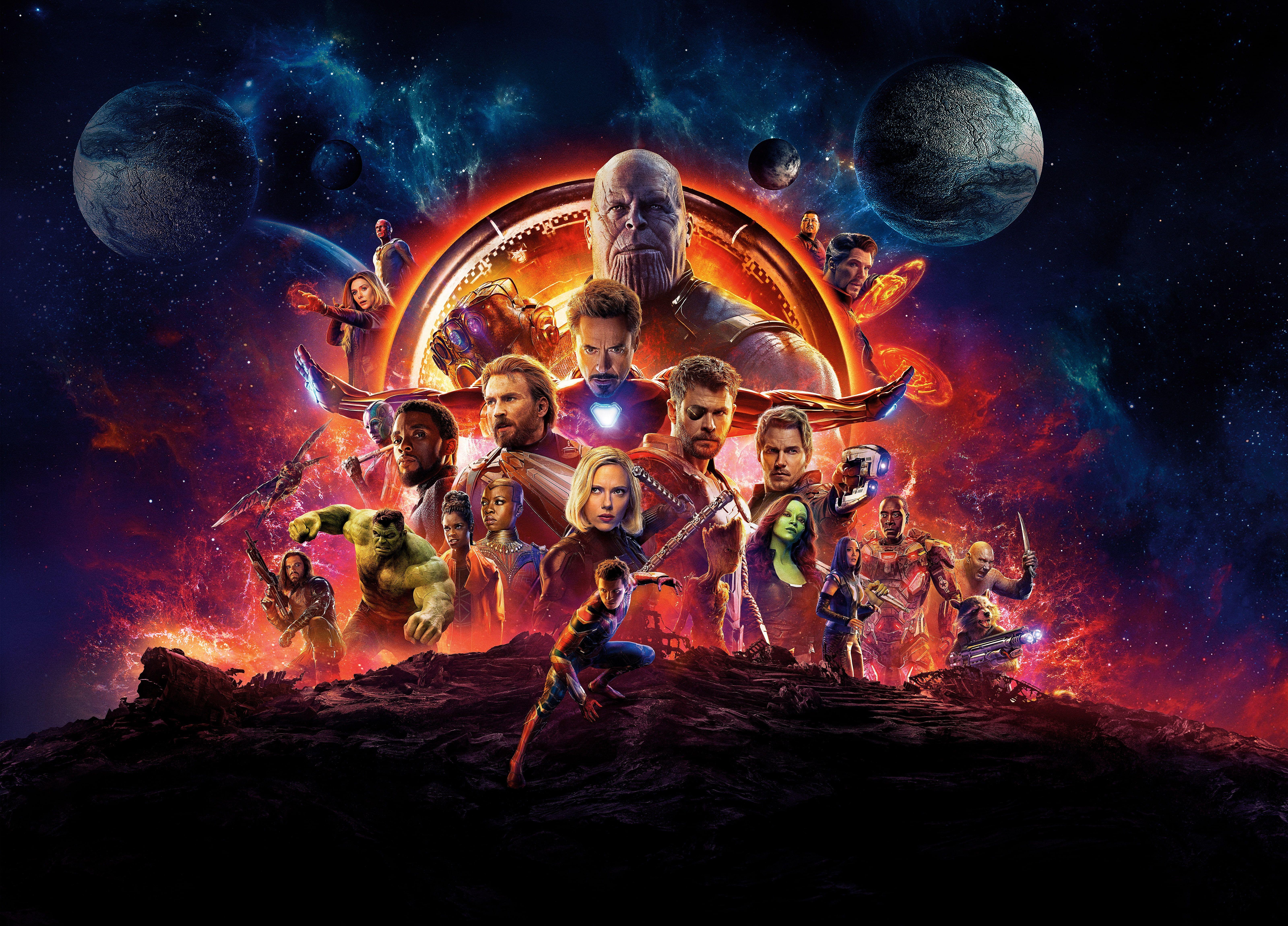Marvel Avengers Infinity War Digital Wallpaper Scarlett Johansson Infinity Vision Hulk Nebula Iron Man Black Panther Marvel Avengers Infinity War Avengers