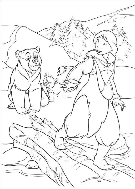 kleurplaat Brother bear 2 - Brother bear 2 | Disney Coloring Pages ...