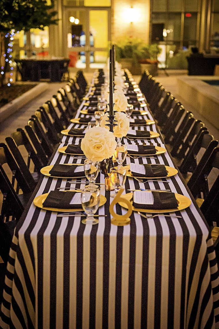 Modern Elegant White Black And Gold Wedding Yellow Party Gold