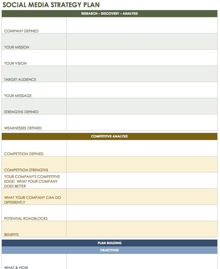 12 Free Social Media Templates - Smartsheet Social Media