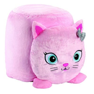 Amazing Soft Landing Cat Icon Bean Bag Chair In Pink Products In Short Links Chair Design For Home Short Linksinfo