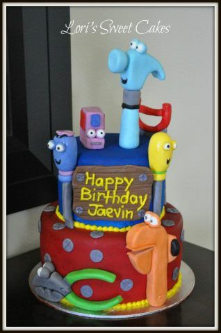 Pleasant Handy Manny Birthday Cake Handy Manny Cake Childrens Birthday Birthday Cards Printable Inklcafe Filternl