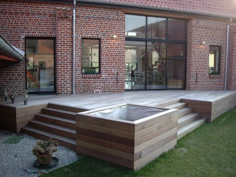 terrasses en bois composite construction terrasse bois exotique garden exteriors. Black Bedroom Furniture Sets. Home Design Ideas