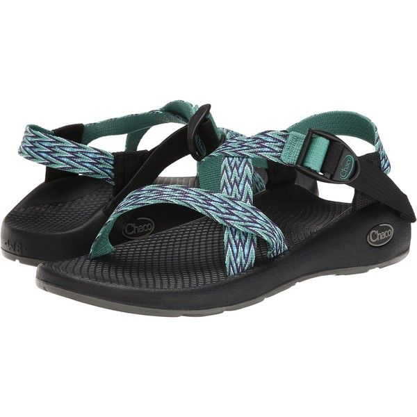 Chaco Z/1 Vibram Yampa (Dagger) Women's Sandals ($80) ❤ liked on Polyvore featuring shoes, sandals, green, chaco footwear, chaco shoes, wrap shoes, arch support shoes and buckle shoes