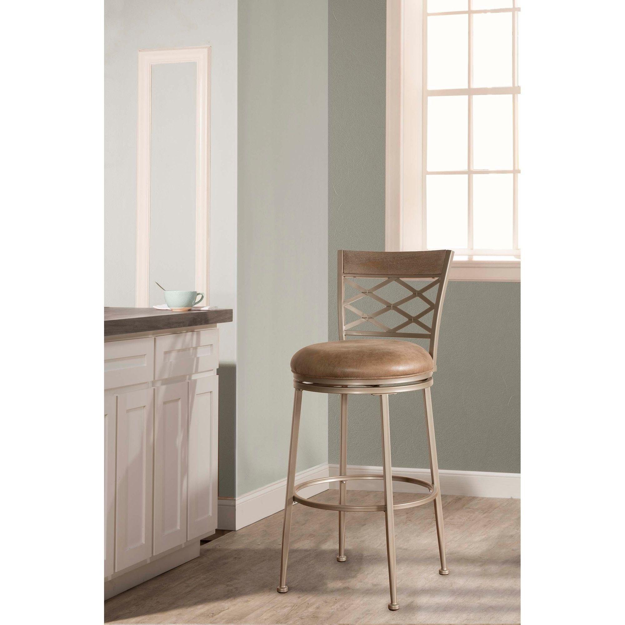 Astonishing Hillsdale Furniture Hutchinson Pewter 26 Inch Swivel Counter Unemploymentrelief Wooden Chair Designs For Living Room Unemploymentrelieforg