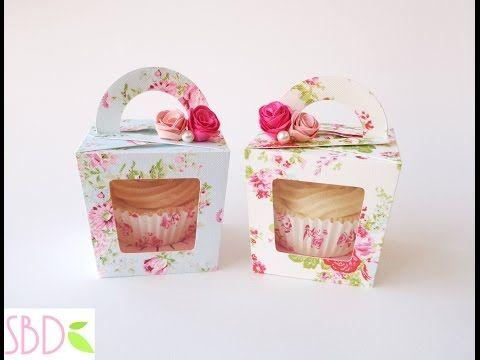 Tutorial Scatola Porta Cupcake Cupcake Gift Box Youtube Cupcake Boxes Template Cupcake Boxes Cupcake Boxes Diy