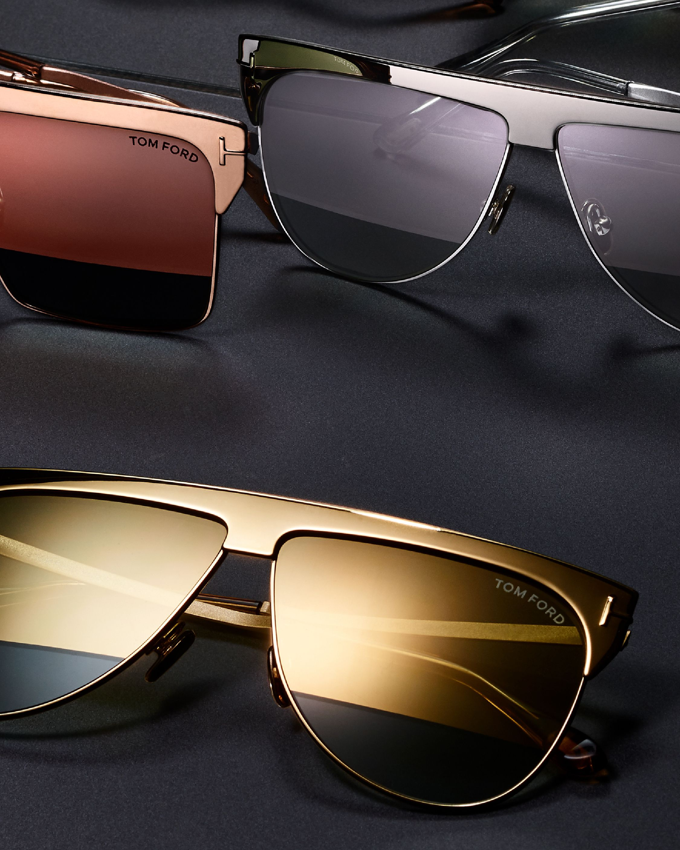 109cd9d96 A luxurious pair of Sunglasses featuring the Winter Gold Plated Sunglasses.  #TOMFORD #TFEYEWEAR