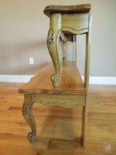 Eingangstisch aus umfunktioniertem Couchtisch, bemalte Möbel, umfunktionierende … - UPCYCLING...