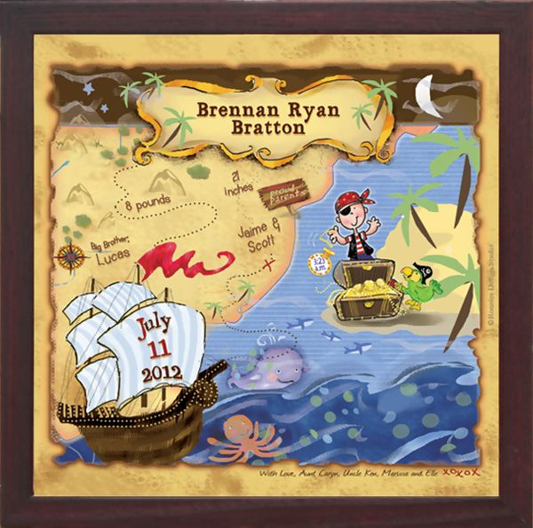 Pirate Scene Personalized Nursery Wall Art :: For That Occasion ...