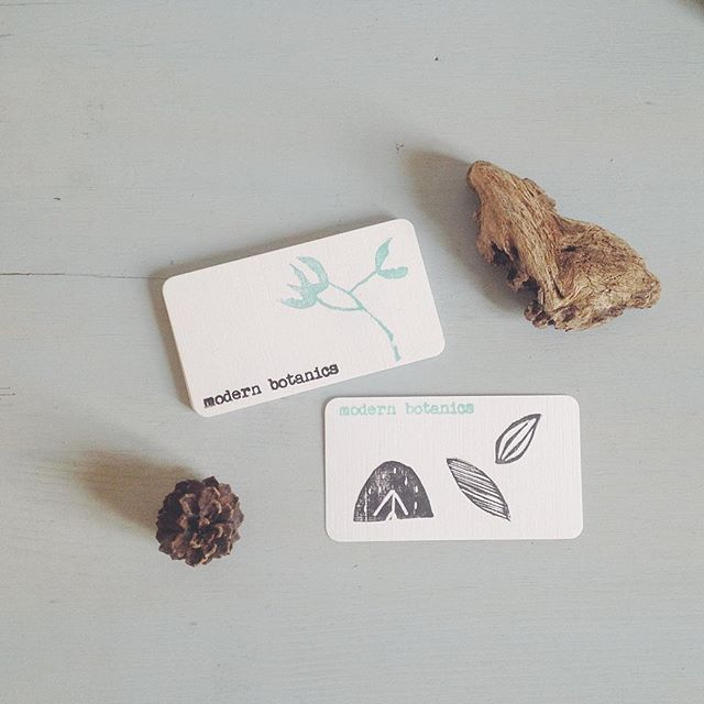 made more hand printed little cards to go with orders