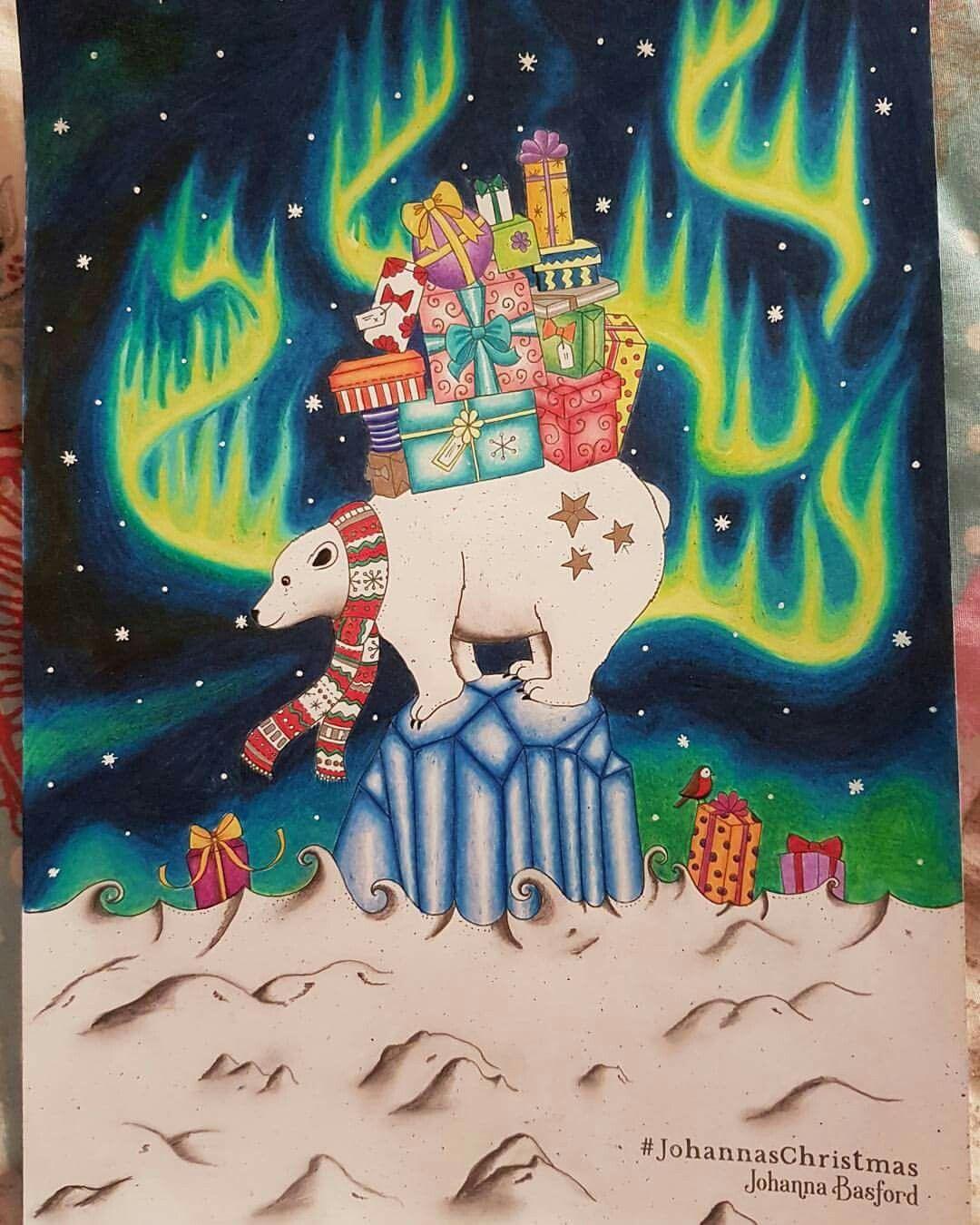 Johannas Christmas By Johanna Basford Using Prismacolor And Posca White Pen