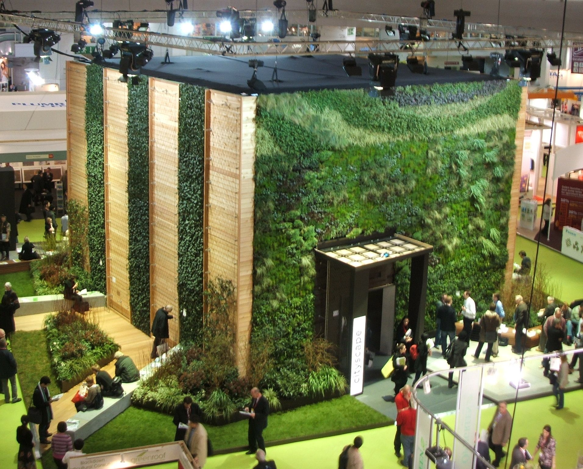 How To Build A Living Wall four types of vertical planters showcased at london's ecobuild