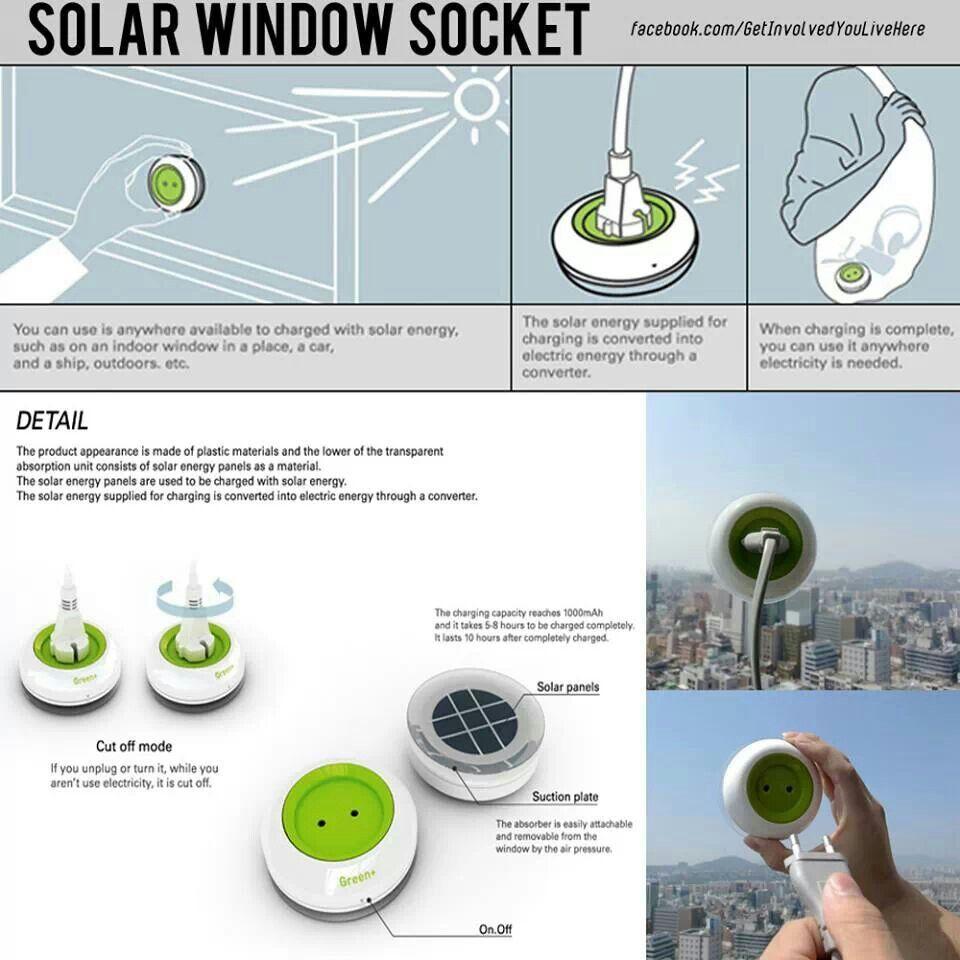 Solar plugs Solar power charger, Solar windows, Solar