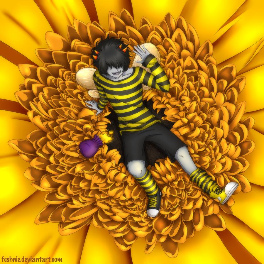 Commission - Beetuna by feshnie.deviantart.com on @deviantART <<MITUNA <3 <<<small headcanon that Mituna lived in the land of petals and pollen