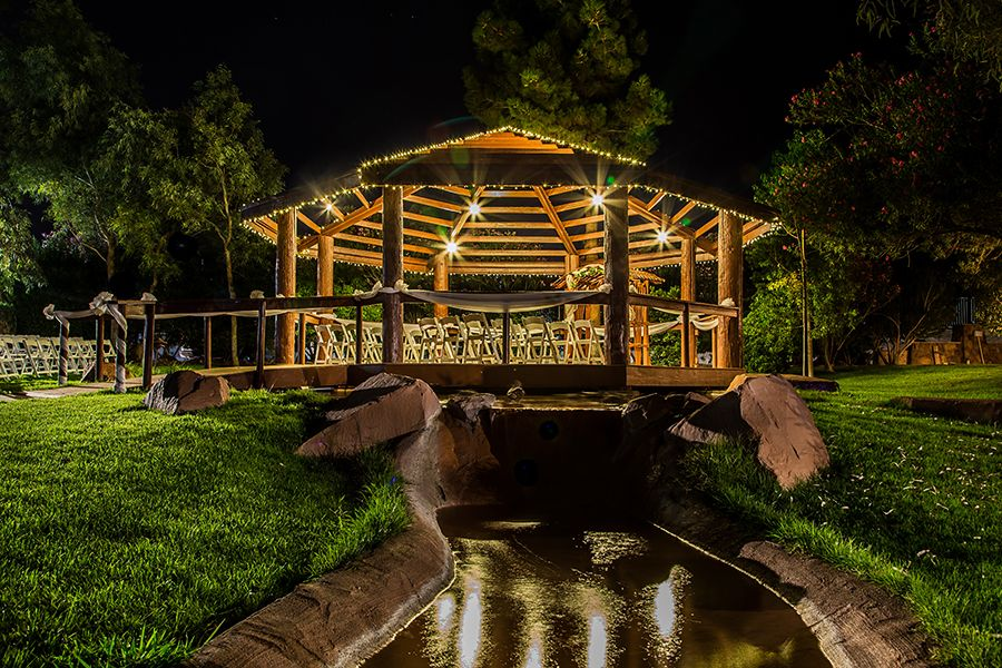Wedding Ceremony site in the Gazebo at The Grove Las
