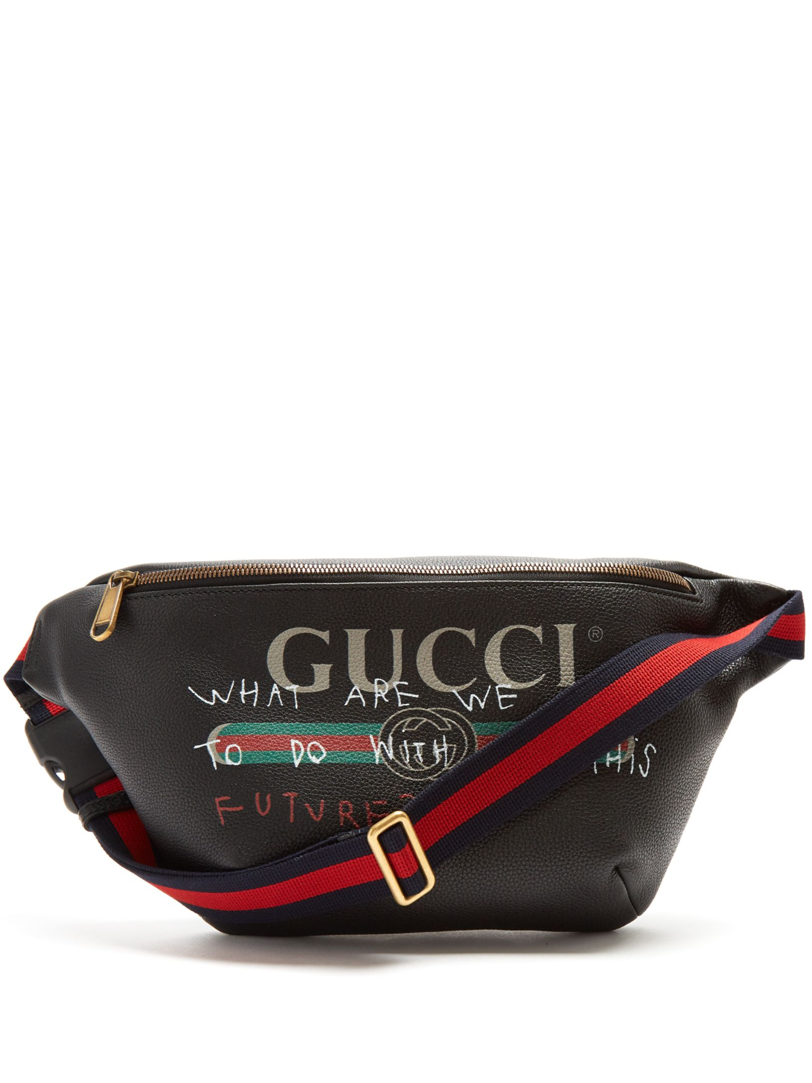 032c9f3832d7 Logo-print leather belt bag