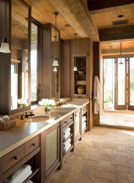 Baños rústicos-Fotos para un baño grande rustico y moderno home