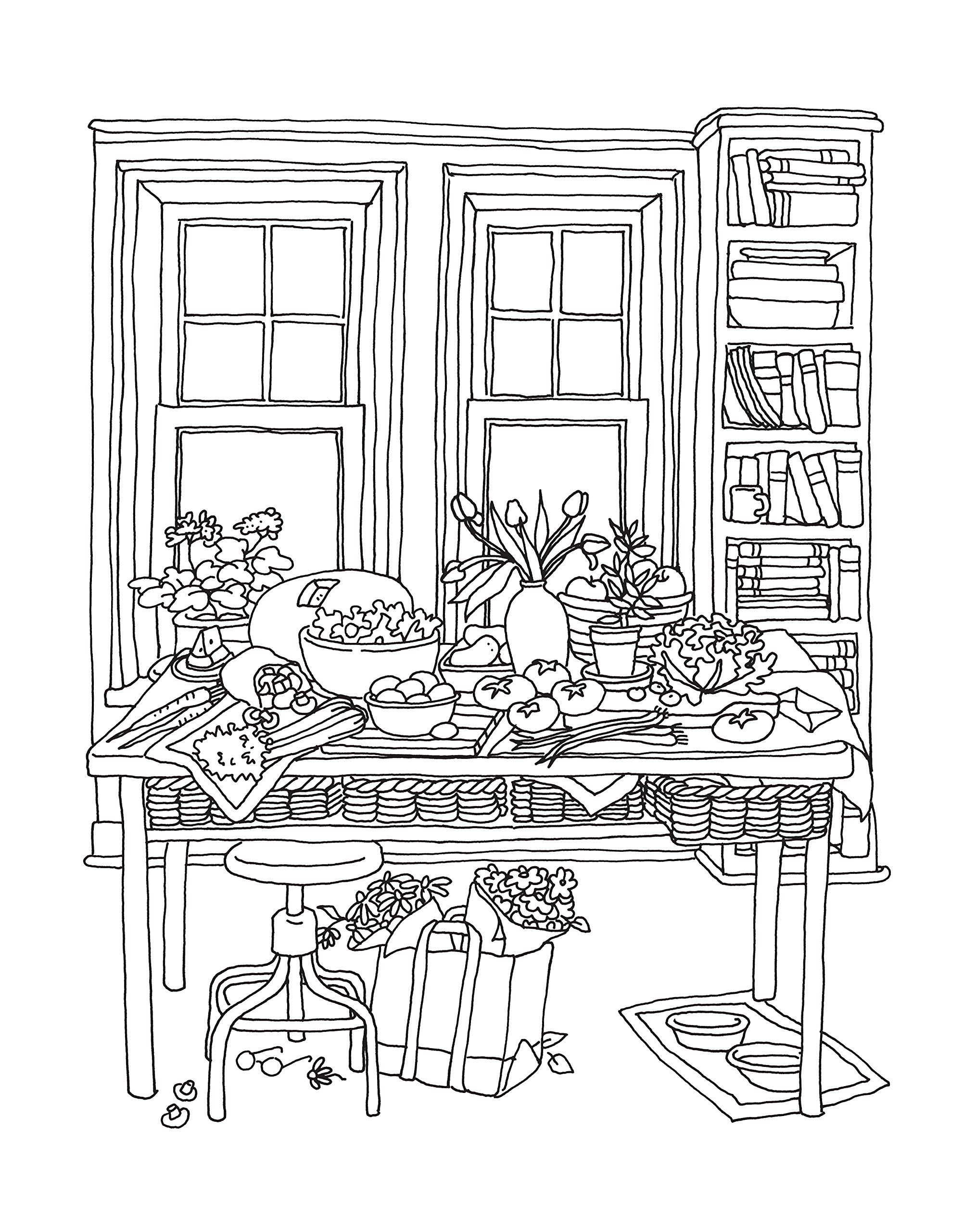 Color Me Cluttered A Coloring Book to Transform Everyday Chaos into