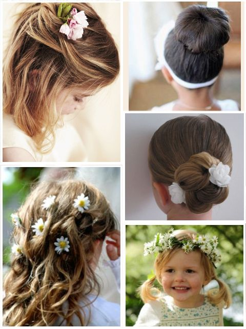 Cool 1000 Images About Flower Girl Hairstyles On Pinterest Flower Short Hairstyles Gunalazisus
